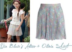Win Blair's Alice + Olivia Floral Skirt from Season 6!