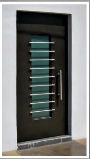 Deco doors on pinterest modern door modern front door for Puertas minimalistas exterior