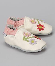 White Cherry Blossom Booties