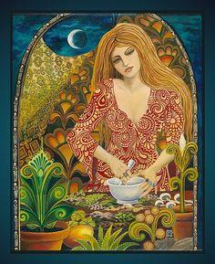 EIR godin van de genade en genezing origineel olieverfschilderij grote 20 x 24
