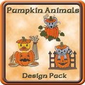 Love these animals popping out of pumpkins from Starbird Stock Designs!