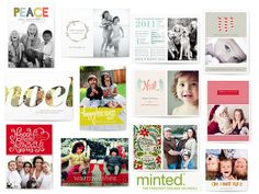 Minted.com for holiday cards.