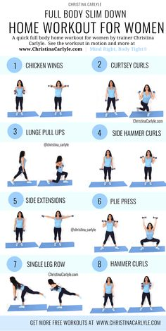 Fat burning home workout for women and beginners. This full body home workout will help you burn fat and get fit. This fat-burning workout is perfect for busy women and beginners. body workout at home with weights Full Body Workouts, Beginner Workouts, Full Body Workout At Home, At Home Workout Plan, Beginner Full Body Workout, Full Body Weight Workout, Women Full Body Workout, Body Exercises, Workout Exercises At Home