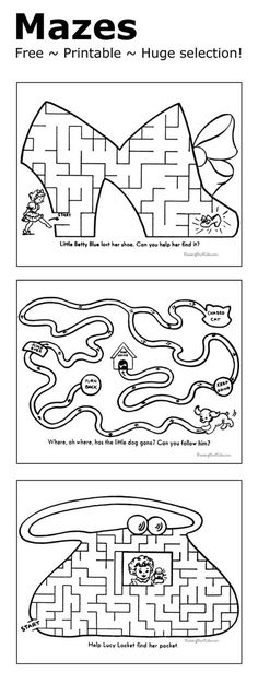 Mazes for kids - Free and printable!