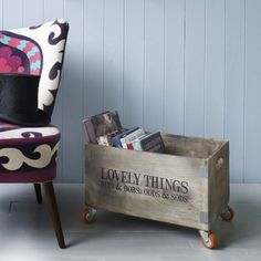 £45 Love it but why-oh-why is everything always out of stock on Graham & Green's website?? Lovely Things Crate on Wheels