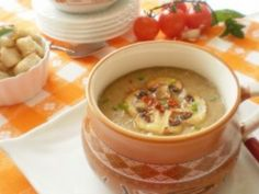 European Dishes, Tasty, Yummy Food, Cream Soup, Baby Food Recipes, Cheeseburger Chowder, Bacon, Cooking, Healthy