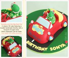 The Big Red Car Cake with Dorothy the Dinosaur