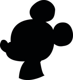Make any DIY craft you want with a downloadable printable silhouette of Mickey Mouse.