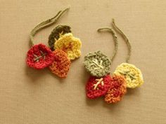 """This pattern is called """"Happy Hour Wine Charms"""", but would make great Appliques for any Fall project."""