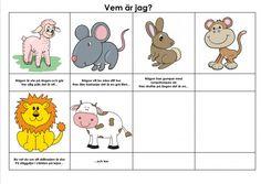 Mariaslekrum - Illustrerade gåtor. Teacher Education, School Teacher, Teaching Materials, Preschool, Comics, Children, Poster, Sink Tops, Love