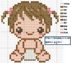 Gráfico punto de cruz bebe ~ lodijoella