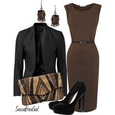 A fashion look from October 2012 featuring Oasis dresses, Forever New blazers and H&M pumps. Browse and shop related looks.