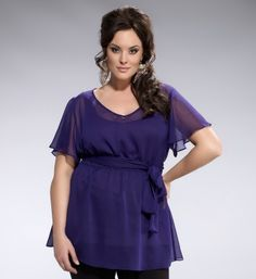 My BFF took me to this fantastic plus-size boutique - great quality and actually designed for my shape! :)