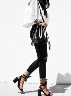 Black and white killer outfit