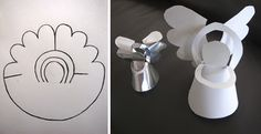 Cute angle decoration made of paper or cut-able medium of choice.