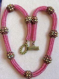 Jill Wiseman's designs. Herringbone rope.