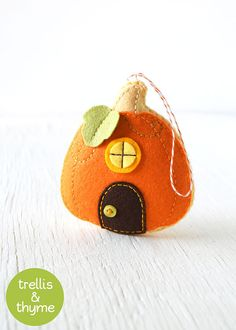 PDF Pattern Pumpkin Cottage Ornament Pattern by sosaecaetano More