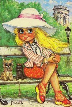 Michel T /painter/ Patriotic Posters, Vintage Illustration, Me And My Dog, Copic Art, Cartoon Pics, Michel, Big Eyes, Vintage Images, Bunt