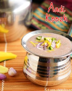 Aadi koozh, easy aadi ragi koozh Learn how to make South Indian recipes, North Indian recipes and eggless baking recipes with step by step pictures and videos! North Indian Recipes, South Indian Food, Indian Food Recipes, Healthy Dinner Recipes, Vegetarian Recipes, Breakfast Recipes, Cooking Recipes, Summer Recipes, Breakfast Ideas