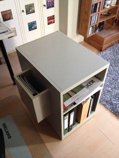 My cabinet for under my desk provides good storage