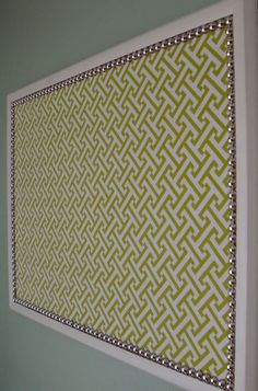 Dorm room bulletin board ..any other pattern can be used