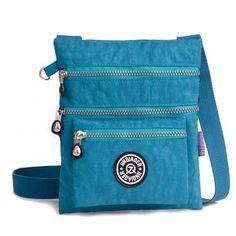 Jinqiaoer Women Casual Nylon Waterproof Multi-Pocket Messenger Zipper  Crossbody Bag Shoulder Bag is designer 89486498f69a9