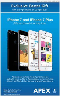 APEX - iPhone 7 Exclusive Easter Promo. Tel: 468 8269 / 468 8270