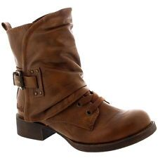 Womens Blowfish Kaution Military Snow Leather Buckle Army Lace Up Boot US 6-10.5
