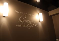 This is one of favourite designs we did for the day spa- Harmony.