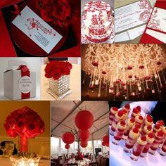 red wedding theme - Google Search  @Joss Henry valdez