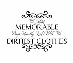 "Laundry Room Vinyl Wall Decal Memorable Days Wall Quote Saying with Vinyl Lettering 22""H x 32""W FS211. $45.00, via Etsy."