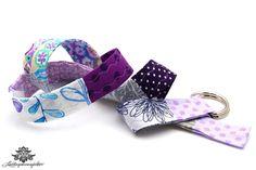 Patchwork Gürtel in lila und violett von #Lieblingsmanufaktur