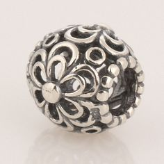 Antique Solid Sterling 925 Silver Charms Beads [Picking Daisies] Fit European Bracelets, Symbol Bead, Decorative, Flora, Flower, Daisy by TaoTaoHas on Etsy