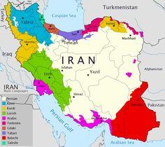 Prevalence of Kurdish language in Iran
