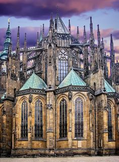 Vitus Cathedral, Prague (Czechia) by Jose Luis Mieza on Prague Cathedral, Prague Castle, The Places Youll Go, Places To Visit, Architecture Antique, Magic Places, Prague Travel, Prague Czech Republic, Voyage Europe