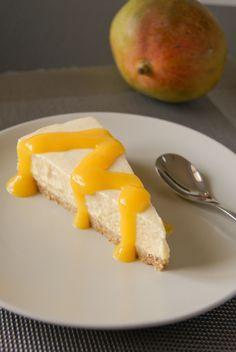 cheesecake mangue coulis mangue