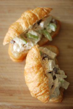 mini chicken salad sandwiches on croissants... Bridal shower?