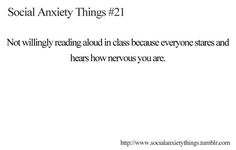 I hate reading aloud, I have a deeper voice and they always laugh at me when I read x