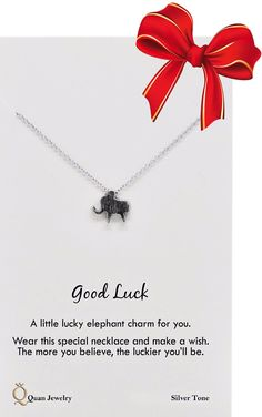 Mariel Good Luck Elephant Necklace Elephant Jewelry, Elephant Necklace, Stainless Steel Necklace, Good Luck, Make A Wish, Silver Jewelry, Pure Products, Best Of Luck, Silver Jewellery