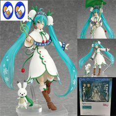 A Toy A Dream Hatsune Miku Figma 024 Snow Miku Snow Bell ver PVC Action Figure Collectible Model Toy Anime model Christmas gifts