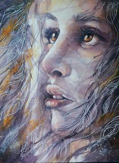 """""""Always look towards the light"""" watercolor painting by katrina koltes"""