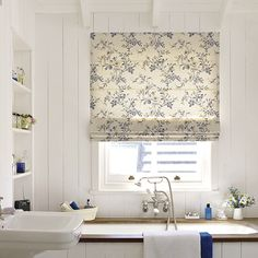 Tiles and towel rails, paint and wallpaper, blinds and shower screens, capacious storage — Country Homes & Interiors has designs on your bathroom Bathroom Shower Curtain Sets, Bathroom Blinds, Kitchen Blinds, Rustic Bathroom Decor, Rustic Bathrooms, Bathrooms Decor, Bathroom Ideas, Bedroom Decor, Country House Interior