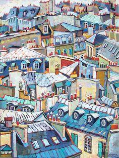Paris Rooftops Paint