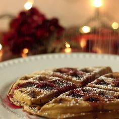 Spread the holiday cheer with gingerbread waffles. Santa may want a stack of these, instead of cookies this year.