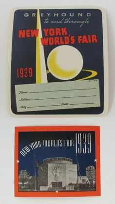 Ny Worlds Fair Luggage Stickers Souvenir by FindingMaineVintage, $15.00