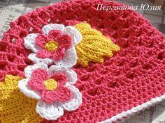 Летняя шапочка для девочки по очень простой схемке
