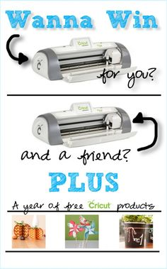 AWESOME Cricut giveaway -- win a machine for you AND one for a friend PLUS a year's worth of crafting supplies. #giveaway