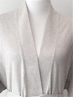 Lightweight Organic Cotton Kimono Bathrobe - Heather Grey. Гостиная Из  Органических Материалов 379df7d55