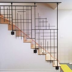 - Stairway Designs & Ideas - When your help is no call no show and you have to dig deep. One man army install. When your help is no call no show and you have to dig deep. One man army install. Staircase Railing Design, Interior Stair Railing, Modern Stair Railing, Metal Stairs, Stair Handrail, Modern Stairs, Spiral Staircase, Railing Ideas, Staircase Ideas