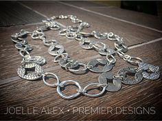"""The NEW @premierdesignsinc """"Cityscape"""" necklace isn't just beautiful but it's also versatile with a removable 11"""" strand that can be also worn as a bracelet!"""